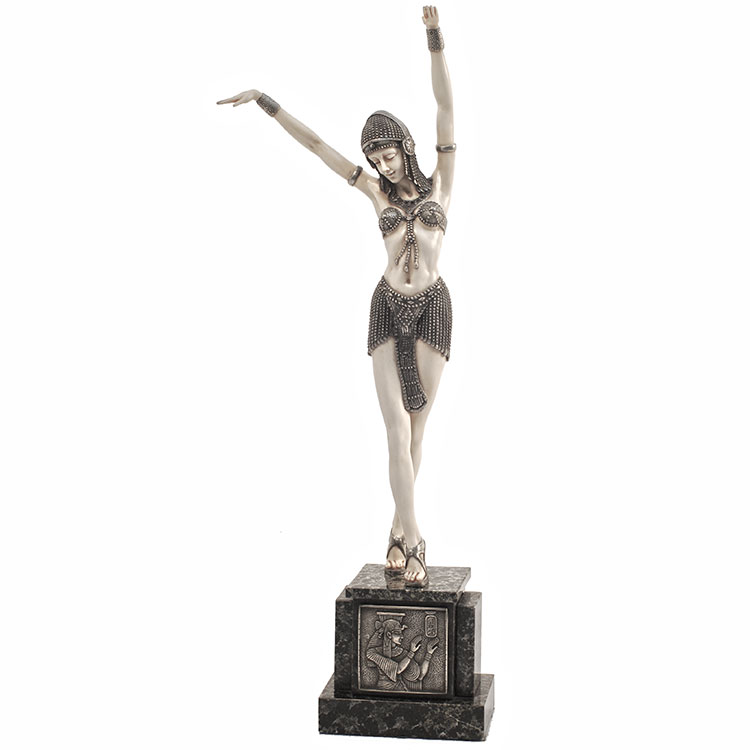 Art Deco Figurine Egyptian Dancer By Dh Chiparus Art